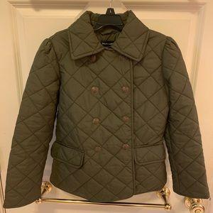 Girls Ralph Lauren green quilted pea coat, 8-10
